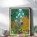 Gustav Klimt Bauerngarten Landschaft Leinwand Malerei Wand Kunst Bilder Bauerngarten mit Sonnenblumen Poster und Drucke Wohnkultur