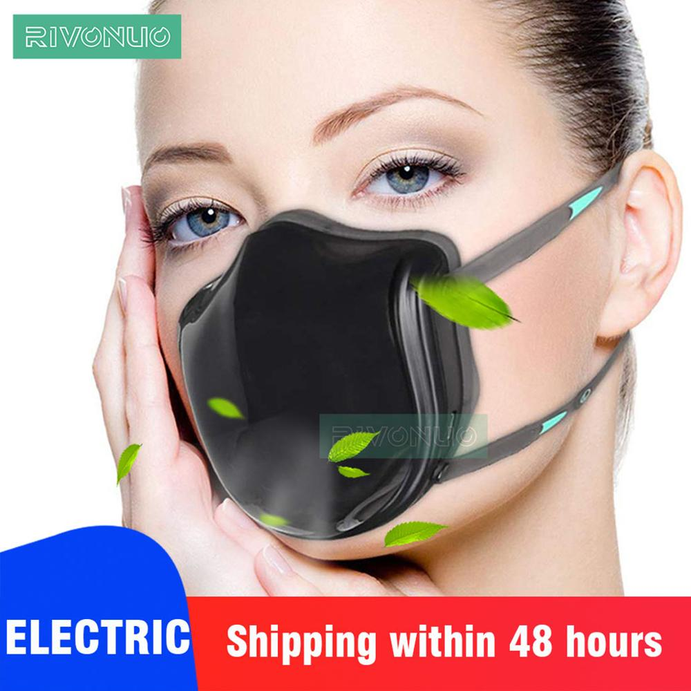 New Generation Automatic Supplied Powered N99 Air Purifying KN95 N95 Mask Half Face Painting Respirator With Hepa Filter