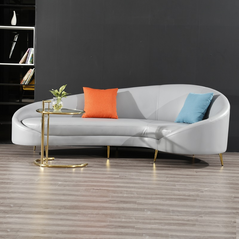 U-BEST New modern style velvet L sharp corner sofa with matel foot...