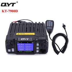 QYT KT-7900D Mini Car Mobile Radio 25W Quan Band Standby Screen Mobile Ham Radio KT 7900D Vehicle Walkie Talkie Transceiver