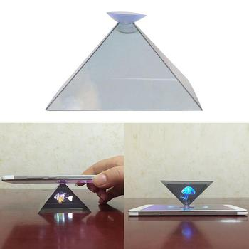 3D Hologram Pyramid Display Projector Video Stand Universa Phone For Smart household transparent Mobile L3W5