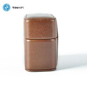 Image 4 - TinHifi 주석 오디오 미니 핸드백 이어폰 하드 박스 가방 헤드폰 케이스 휴대용 Pu 가죽 헤드셋 보관 가방