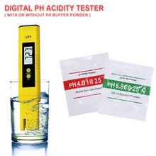 Pocket Pen Digital Water PH Acidity Meter PH 0-14/0.01ph for Aquarium Pool Water Laboratory Measure Wine Automatic Calibration