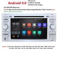 DSP IPS 2 din Android 9.0 2G 16G Car GPS For Ford Mondeo S max Focus C MAX Galaxy Fiesta transit Fusion Connect kuga DVD PLAYER