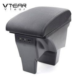Vtear For Suzuki vitara arm rest leather car armrest accessories protect storage box holder interior center centre console 2018