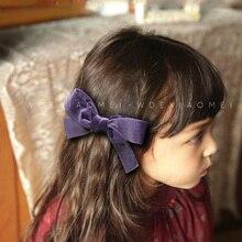 цена на Big Bow Hairpins Hair clips Korean velvet Big Bowknot Barrettes Hair pin For Girls Kids woman Hair Accessories children Headwear