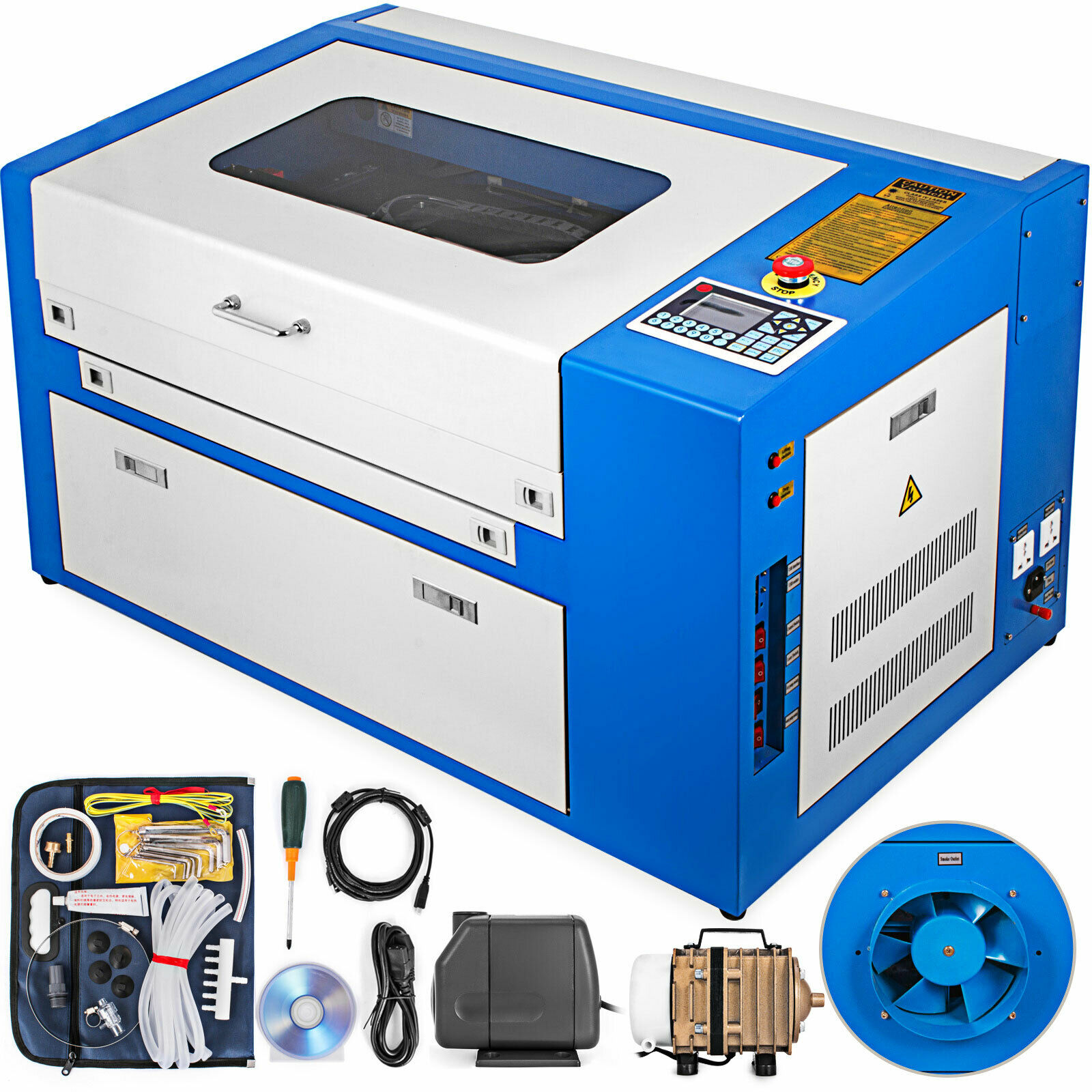 CO2 USB Laser 50W Engraving Cutting Machine 300x500mm Engraver Cutter Wood Working Machine