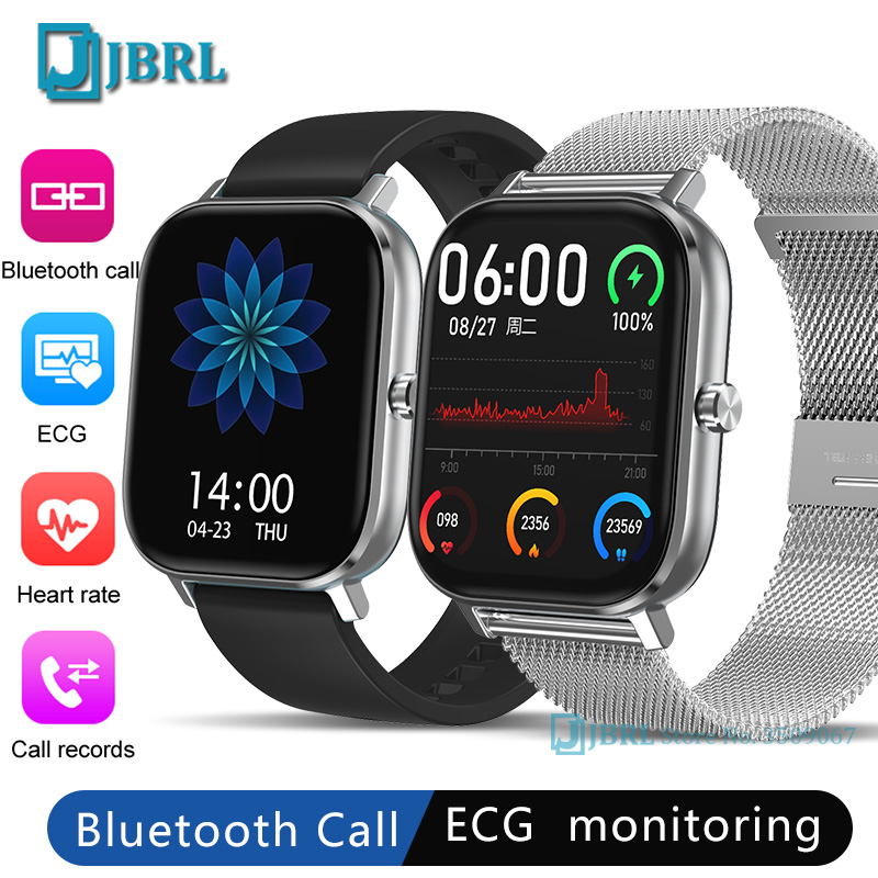Sports ECG Square Digital Watch Men Women Bluetooth Call Answering Digital WristWatch Ladies Steel Fit Watches Mens Android IOS