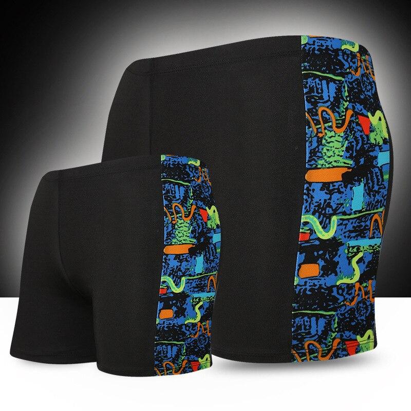 MEN'S Swimming Trunks Korean-style Quick-Dry Boxer Hot Springs Swimming Plus-sized Printed Adult Men's Shorts Yk909