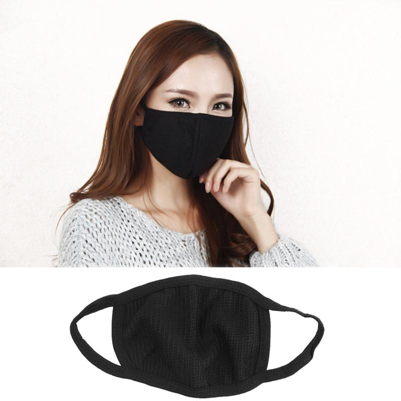 Korean Style Black Dust Protective Mask Half Mouth Warm Cotton Anti-Dust Windproof Cute Breathable Masks Fashion Mask W1N9