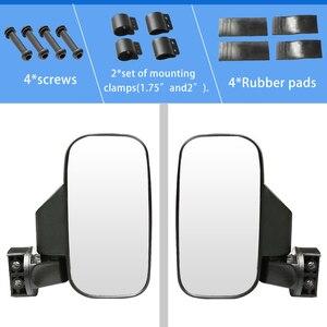 """Image 3 - Utv espelho retrovisor espelho lateral com 1.75 """"/2"""" barra de rolo gaiola apto para polaris ranger e rzr 4 e xp 4 barras transversais superiores 2"""""""