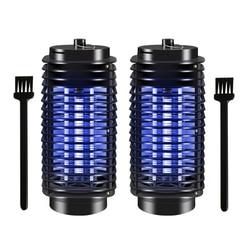 2 sztuk 220V Mosquito Killer lampa UV promieniowania mniej porażenia prądem elektrycznym lampa komar morderca do zabijania owadów światła z 2 ue wtyczka|Lampy na komary|   -