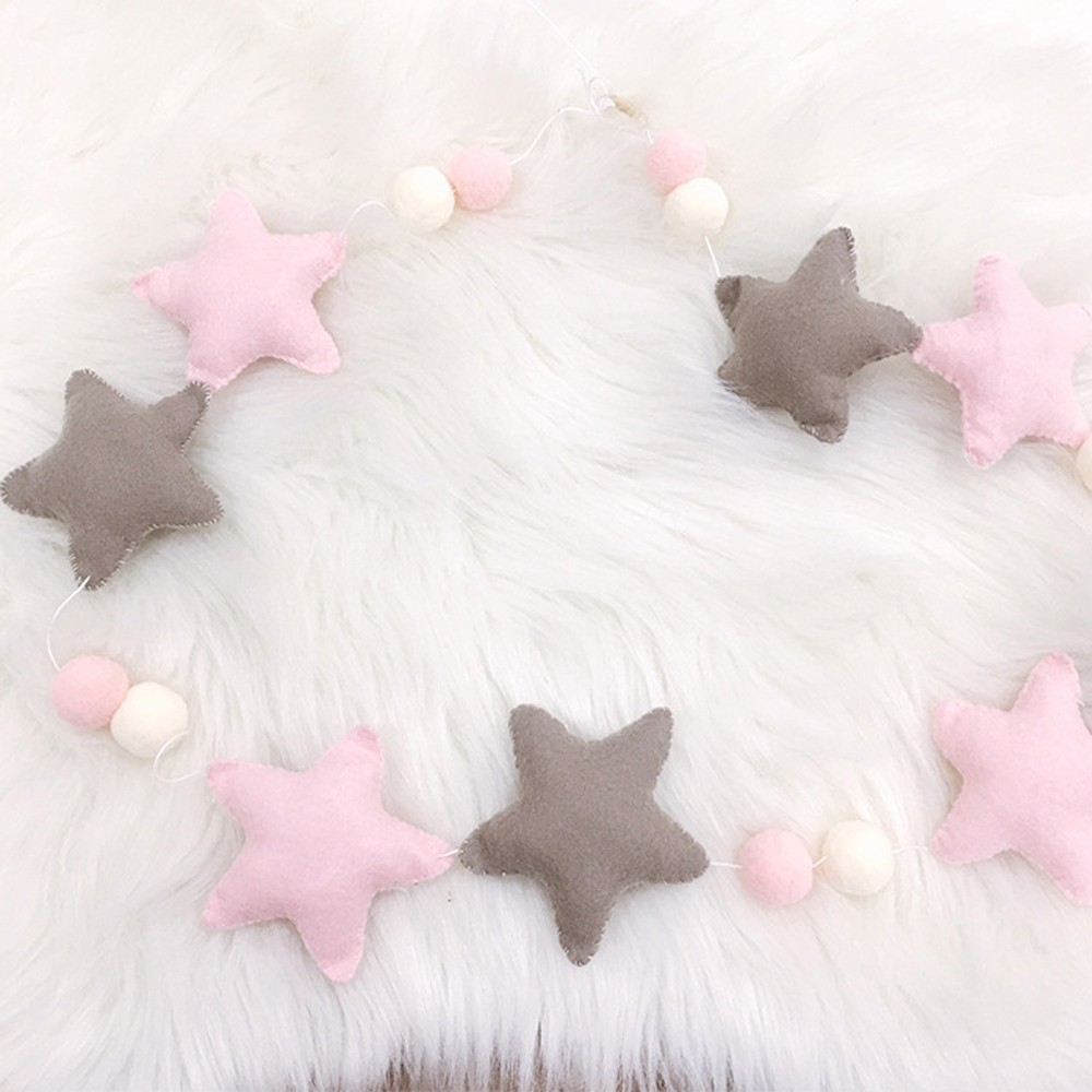 INS Globe Nordic Baby Room Handmade Star Garlands Kids Room Wall Decorations Props Best Gift For Home Decoration Accessories