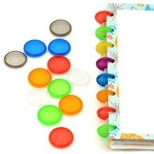 DISCBOUND диски 100шт Связывателя кольца 18мм/24мм красочные связывая кольца, изготовленные из материала ABS для ноутбука CX19-004