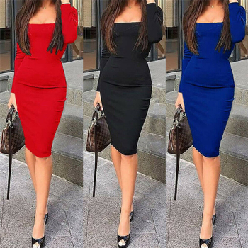 Women Bodycon Dress Sexy Slim Fit Xmas Halloween Christmas Party Dresses Sundress Sexy OL Clothes Office Lady Elegant Dress