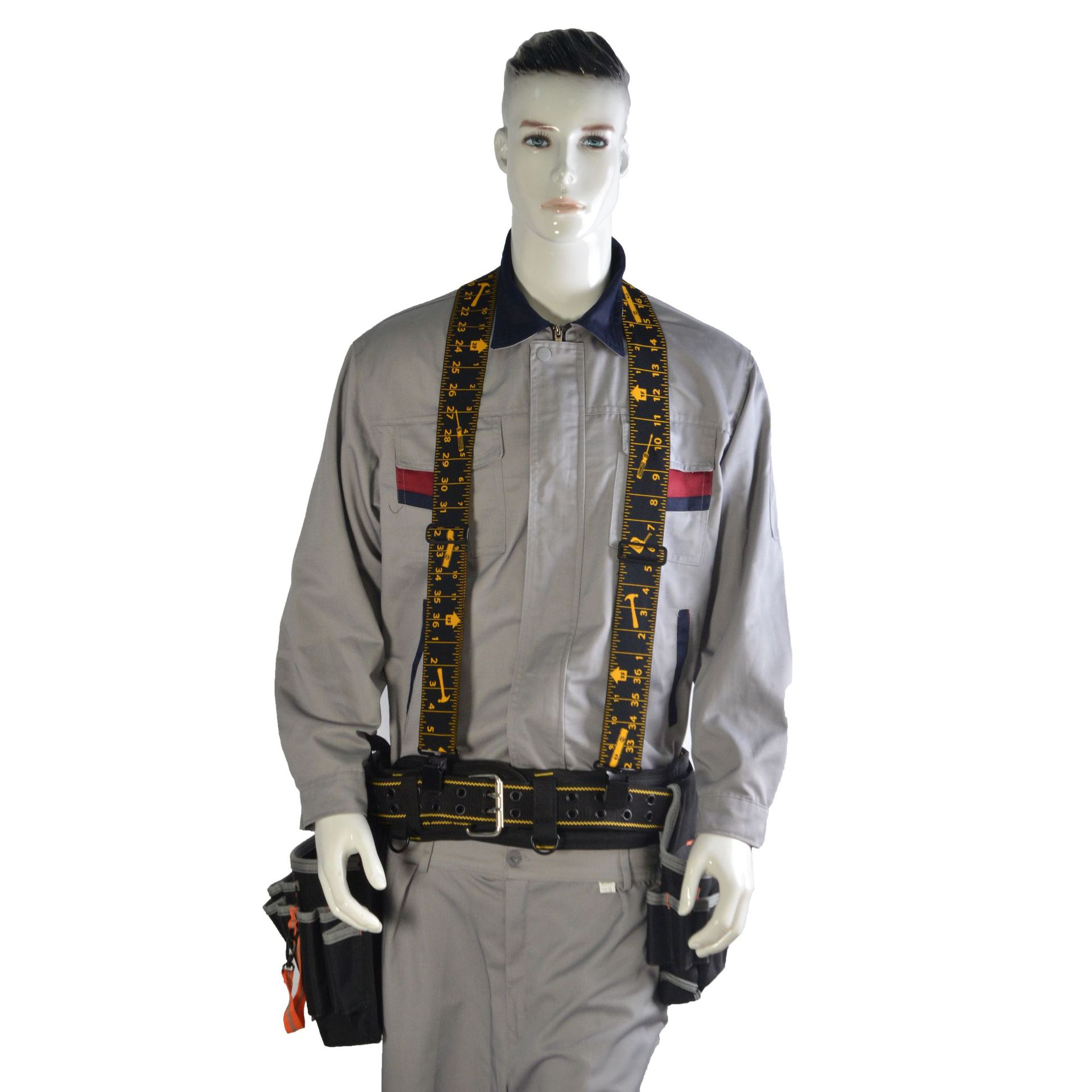Heavy Duty Work Tool Belt Suspender Men's adult X-type four clamps high elasticity elasticity load tooling straps suspender