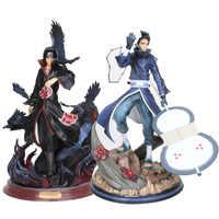 Lensple Naruto Shippuden figur spielzeug Naruto GK Uchiha Itachi Mit Crow Uchiha Obito PVC Action Figure Modell Spielzeug 25- 30CM