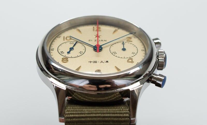 H8be348da373d4948840919003cae66beN Classic 1963 D304 Chronograph Men Pilot Wrist Watch Mechanical Hand Wind Seagull ST1901 Movement Aviator Watches Sapphire Glass