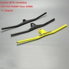Manillar de fibra de carbono para bicicleta de montaña, manillar integrado de una forma con vástago UD, Manillar de bicicleta de montaña DH de carbono mate