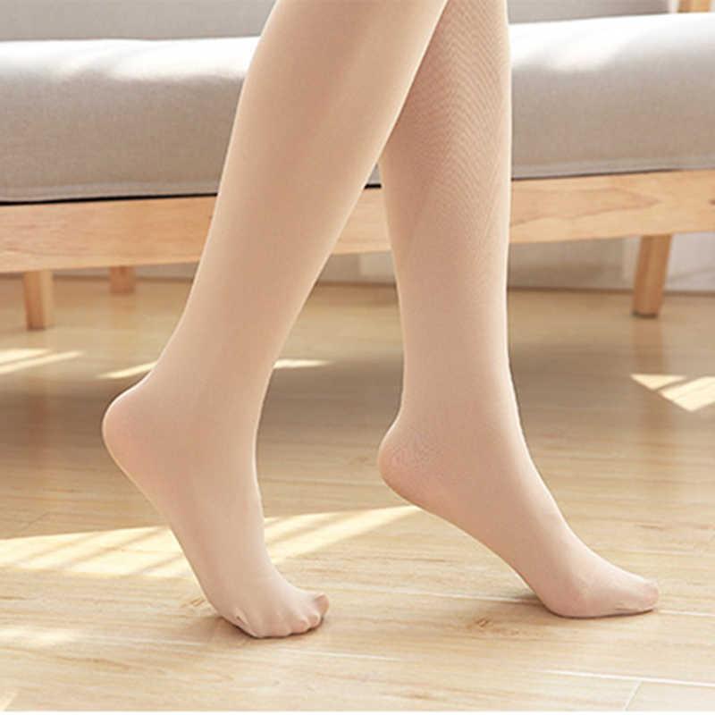 Kompression Strumpfhosen Frauen Winter Engen Strumpfhosen Super Stretch Strümpfe für Mädchen Masage Füße Strumpfhosen Sexy Fishnet Plus Größe