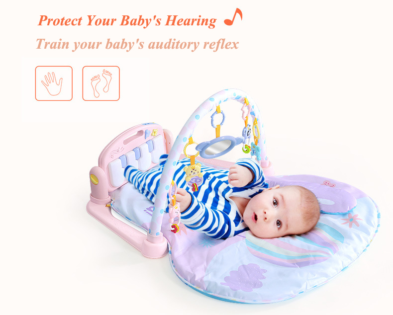 Bebê Eco Destacável Atividade Ginásio Música Cobertor de Fitness