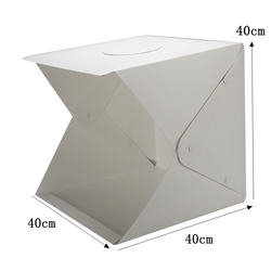 Portable 40cm Tabletop Shooting Softbox 2 LED Folding Lightbox Photography Studio Photo Softbox Adjustable Brightness Light Box