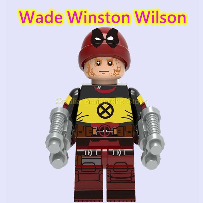 Marvel avengers endgame deadpool cabo colossus blocos de construção super heróis thanos x-men brinquedos para crianças