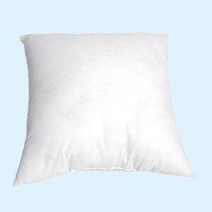 Image 2 - 화이트 베개 필링 스퀘어 넥 베개 코어 슬리핑 침대 아픈 코튼 베개 필러 부직포 쿠션 코어 내부 홈 장식