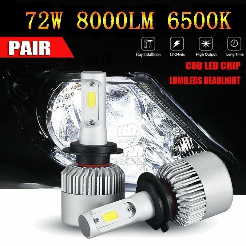 2PCS H7 LED COB S2 Auto Car Headlight 72W 8000LM High Low Beam Automobiles Lamp  Novedades 2018 Por Mayor