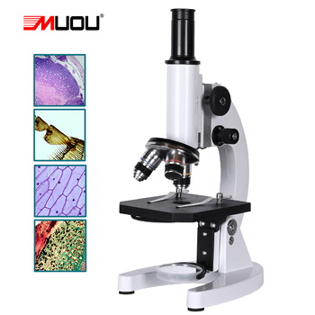 zoom 640X HD Monocular Biological Microscope Science Experiment Student School education science laboratory Lab eyepiece 10x 16x tanie i dobre opinie MUOU 500X-1500X OSL-006 Metal Wysokiej Rozdzielczości Mikroskop biologiczny Monokularowy 40X-640X Achromatic Objectives 4X 10X 40X