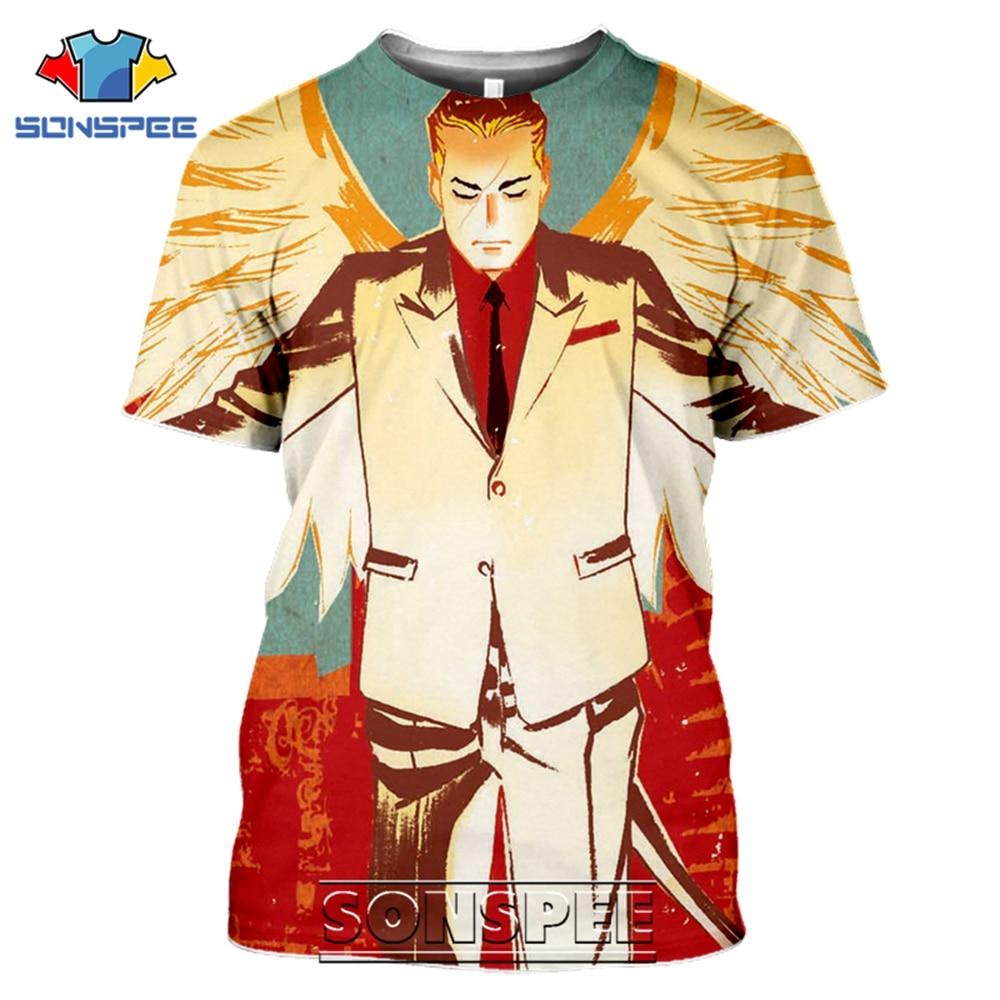 SONSPEE T-shirts Lucifer Morningstar 3D Print Men Women Casual Fashion Hip Hop Short Sleeve Streetwear Devil Tees Tops Shirt (9)