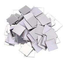 100 шт. зеркало стикер для настенной плитки 3D Наклейка номер Декор Memory Stick (серебро)