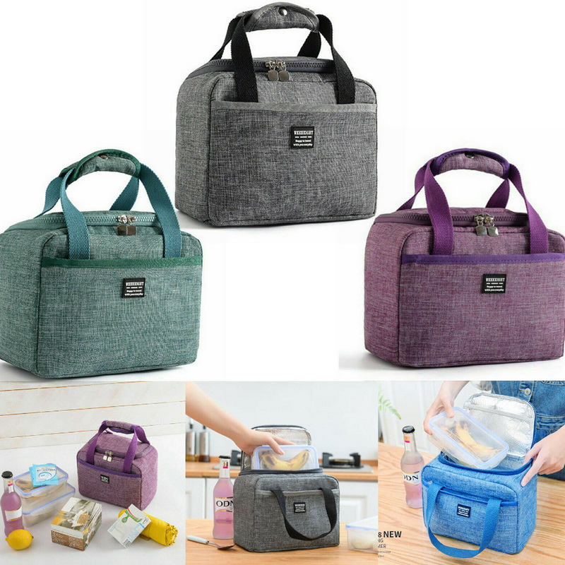 Portable Lunch Bag Women Reusable Cold Insulated Lunch Bags Totes For Work Pinic Travel 2019 New Arrival Casual Handbags