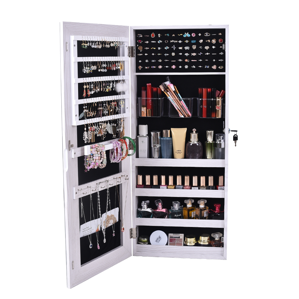 【US Warehouse】The Whole Surface PVC Film Wall Hanging Door With Lock Jewelry Cabinet Fitting  Barber Shop Free Drop Shipping USA