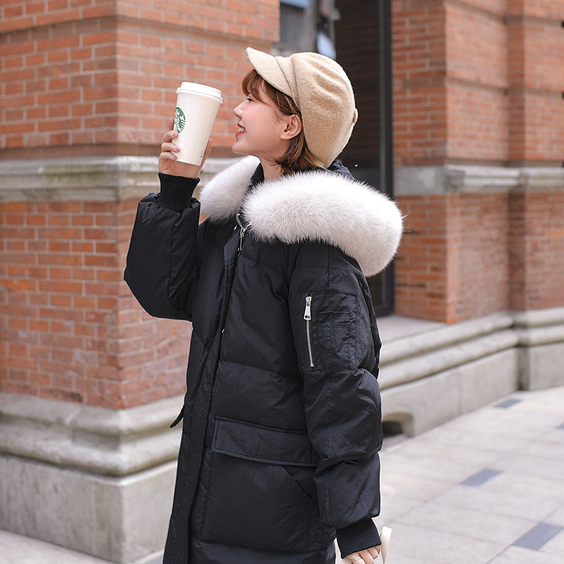 Winter Coat Female Thick Warm Women's Down Jacket 2019 Korean Casual Long Duck Down Jackets + Fox Fur Hooded Hiver 8016