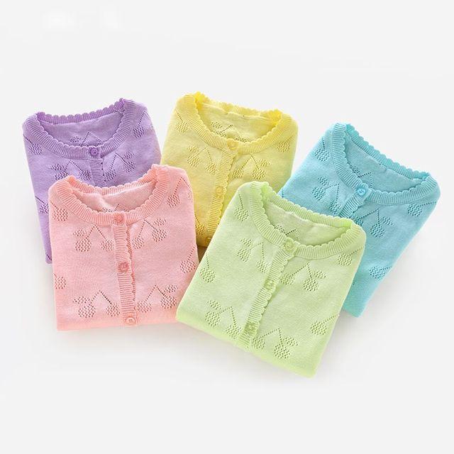 Dziewczęta dziecko wiosna jesień drążą topy wiśniowy sweter słodki słodki sweter dzianinowe swetry 1-6 lat G550