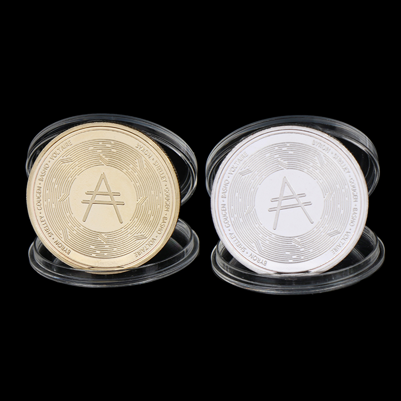 Gold Ada Cardano Crypto Coin Cryptocurrency Collectible Great Gift Silver Coin Art Collection Physical Gold Commemorative Coin
