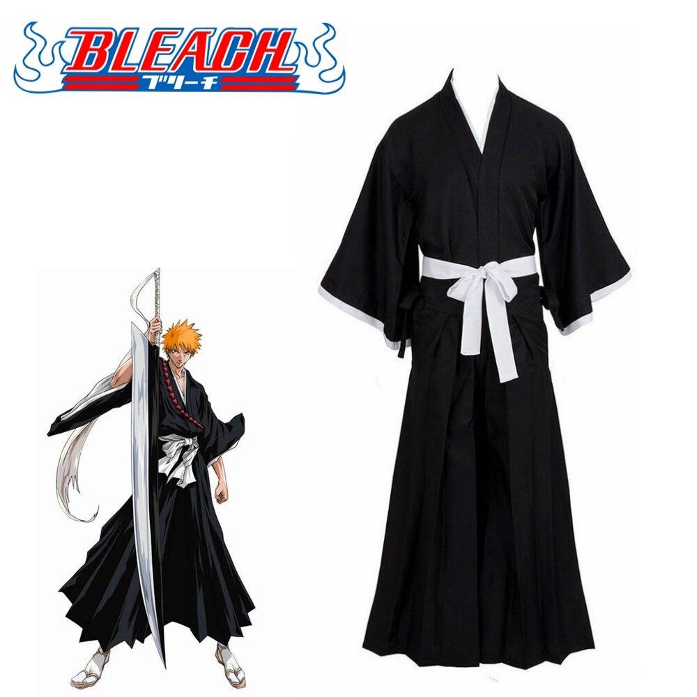 Bleach Kurosaki Ichigo Robe Cloak Coat Japanese Anime Cosplay Halloween Costume