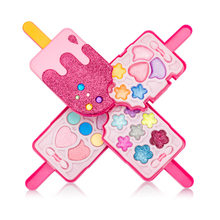Ice cream Shape Kids Girls Makeup Tool Kit Toy Children Girls Pretend Play Make Up Toys Box Cosmetics Play Sets Toy(China)