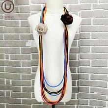 Ukebay/разноцветная резиновая подвеска ожерелье ручной работы