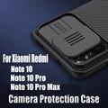 Чехол для Xiaomi Redmi Note 10/Note 10 Pro 10s, чехол NILLKIN Camshield для камеры Redmi Note 10 Pro Max, Высококачественная задняя крышка