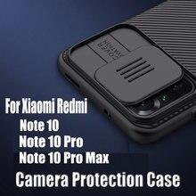 Dla Xiaomi Redmi Note 10/Note 10 Pro 10s etui NILLKIN Camshield etui na aparat For Redmi Note 10 Pro Max wysokiej jakości tylna okładka