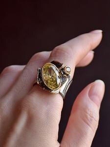 Dreamcarnival1989 Wedding-Rings Gothic Golden-Color Women Jewelry Zircon Delicate-Cut