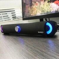 Smalody Bluetooth 4.2 Soundbar Led Speaker Power 10W / Stereo / Subwoofer / Surround Sound / Colorful Led Light / 2000Mah Large