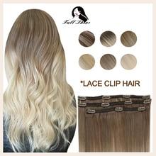 Полный блеск заколки для волос натуральные человеческие волосы для наращивания балаяж цвет Омбре 50 г заколки для наращивания Remy волосы с кр...