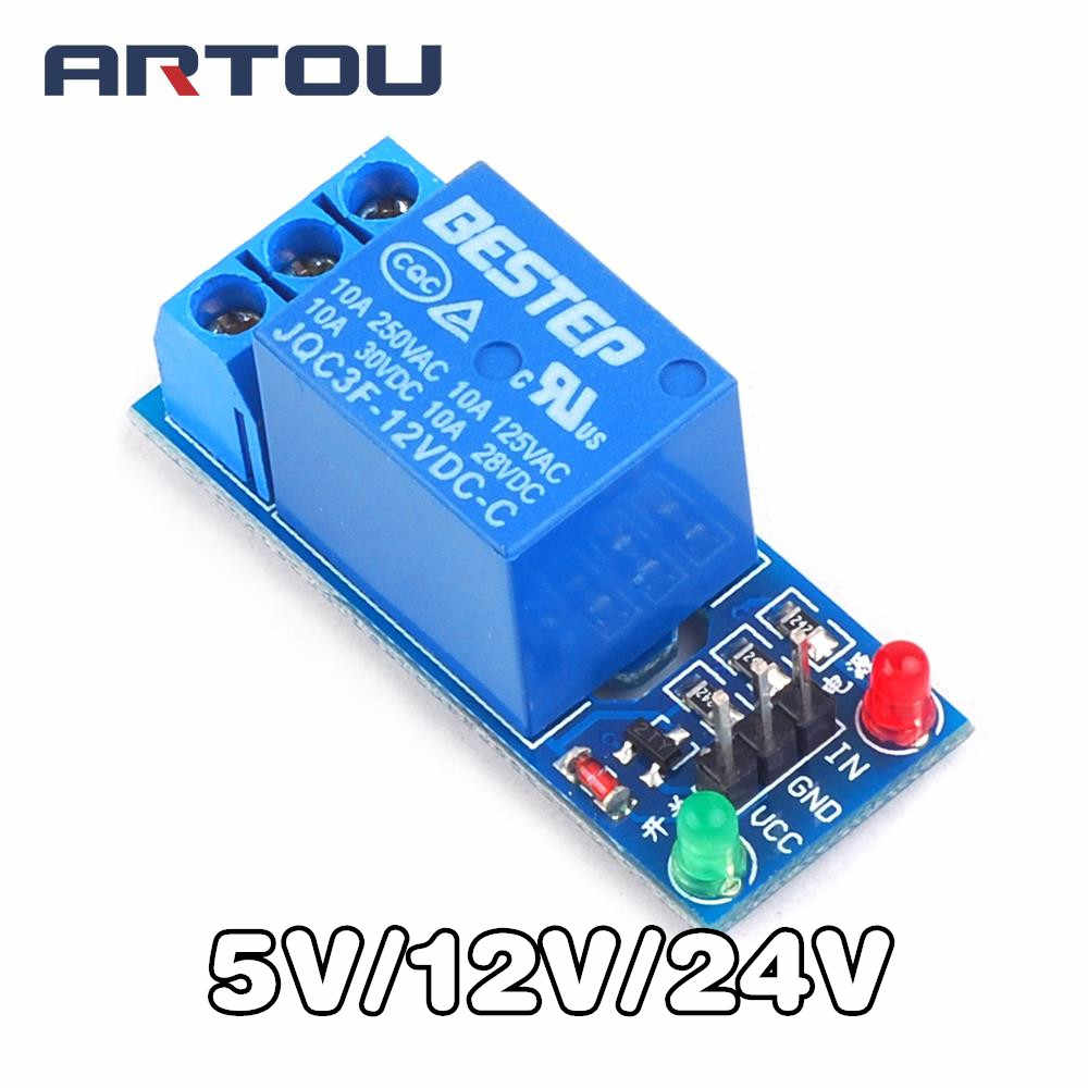 5V 12V 24V high/low level trigger Een 1 Kanaals Relais Module interface Board Shield Voor PIC AVR DSP ARM MCU Arduino