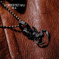 COPPERTIST.WU Handmade Manchurian Scorpion Key Chain Necklace Pendant S925 Surface Aging Simulation Animal Keychain Charm