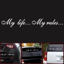 Одна трещина, 8,5*60 см, 1-2 штуки, моя жизнь.... Мой и... Автомобильные наклейки, наклейки, правила, наклейки A8L1