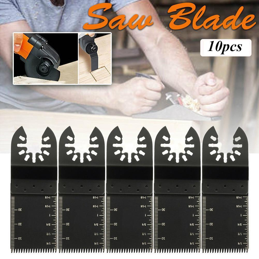 10pcs Straight Scale Oscillating Multi Tool Saw Blade Set For Fein Multimaster