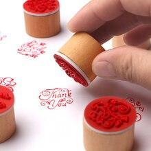 1 шт спасибо деревянная резиновая печать для скрапбукинга поздравительное